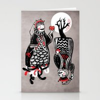 Queen And King Of Hearts Stationery Cards