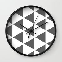 Sleyer Dark Grey on White Pattern Wall Clock