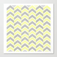 Sun and Clouds Chevron Canvas Print