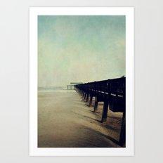 Seashore Pier Art Print