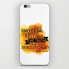 Revolutionary Act - quote design iPhone & iPod Skin