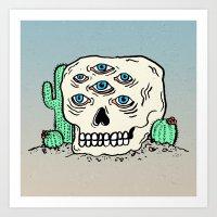 DIE IN THE DESERT Art Print