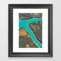 Turquoise Lake Framed Art Print