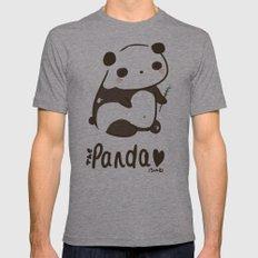 Panda Panda Mens Fitted Tee Athletic Grey SMALL