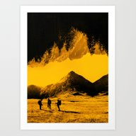 Hello Threes Of Yellow I… Art Print