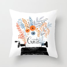 Create | Typewriter Throw Pillow