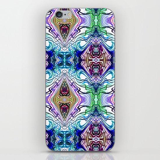 Neon Pinstripes 1 B iPhone & iPod Skin