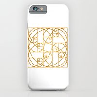 iPhone & iPod Case featuring Golden Ropes by INTJ Designer