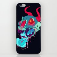 pink skull goop iPhone & iPod Skin