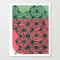 Green And Coral Canvas Print