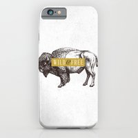 iPhone & iPod Case featuring Wild & Free (Bison) by Zeke Tucker