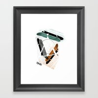 Skatestriangles Framed Art Print
