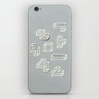Tetris Papercut iPhone & iPod Skin