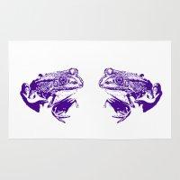 purple frog II Rug