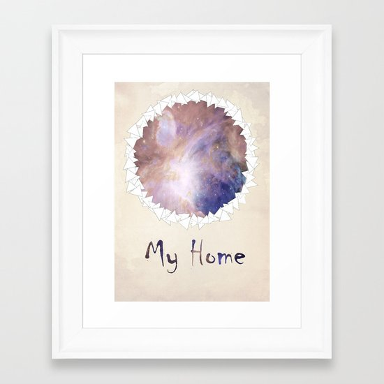 MY HOME Framed Art Print