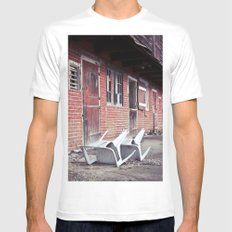 610 Barn #2 SMALL White Mens Fitted Tee