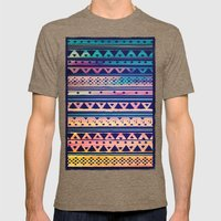 SURF TRIBAL PATTERN Mens Fitted Tee Tri-Coffee SMALL