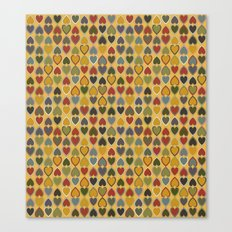 Hearts on gold Canvas Print