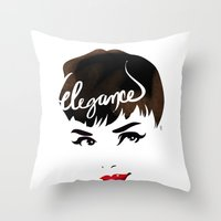 Bombshell Series: Elegance - Audrey Hepburn Throw Pillow