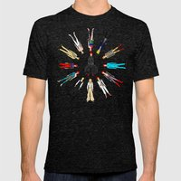 Bowie Circle Group Mens Fitted Tee Tri-Black SMALL