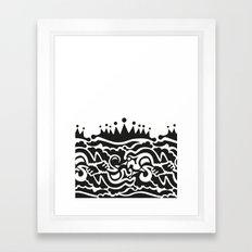 Fills Doodle Framed Art Print