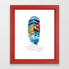 Colorful Feather Art -  Blessing - By Sharon Cummings Framed Art Print
