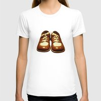 shoes T-shirts featuring Shoes by Kimball Gray
