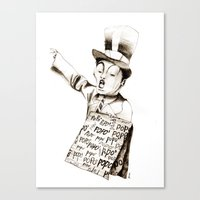 the POPO' paperboy Canvas Print