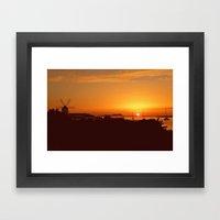 Ibiza Sunset. Framed Art Print