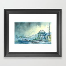 Overlooking the Bosphorus Framed Art Print