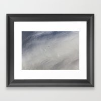 Swan Feathers Framed Art Print