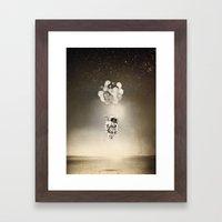 Desert & space Framed Art Print
