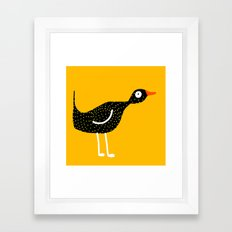 bird - yellow Framed Art Print