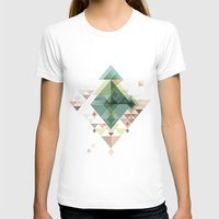 Abstract Illustration Womens Fitted Tee White SMALL
