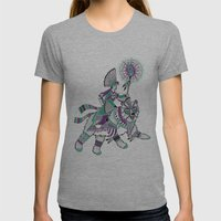 The Bear Rider Womens Fitted Tee Athletic Grey SMALL