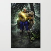 Mecha Series // Sagat Canvas Print