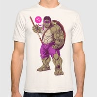Hulk Ninja Turtle Mens Fitted Tee Natural SMALL