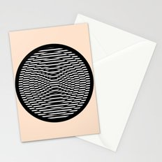 Simple Modern Stripes Circular Print Stationery Cards