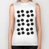 Copijn Black & White Dots Biker Tank