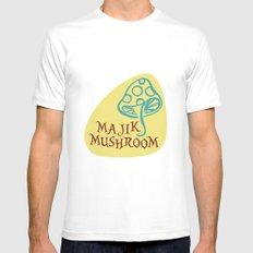Majik Mushroom SMALL Mens Fitted Tee White