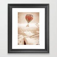 Wednesday Dream - Chasing Planes Framed Art Print