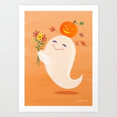 Bella Boo Ghost  Art Print