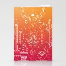Santa Fe Garden – Orange Sunset Stationery Cards