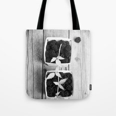 Black and White Blackberries Tote Bag