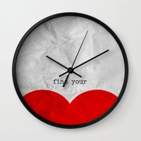 Find Your Half (1 Of 2 P… Wall Clock