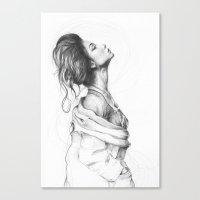 Pretty Lady Illustration Canvas Print