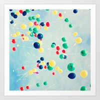 Clouds Of Color Art Print