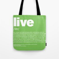 definition LLL - Live Tote Bag