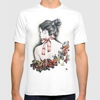 L'effet papillon Mens Fitted Tee White SMALL
