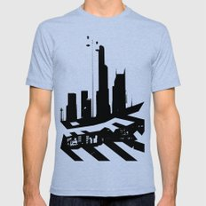 City Scape In Black And … Mens Fitted Tee Tri-Blue SMALL